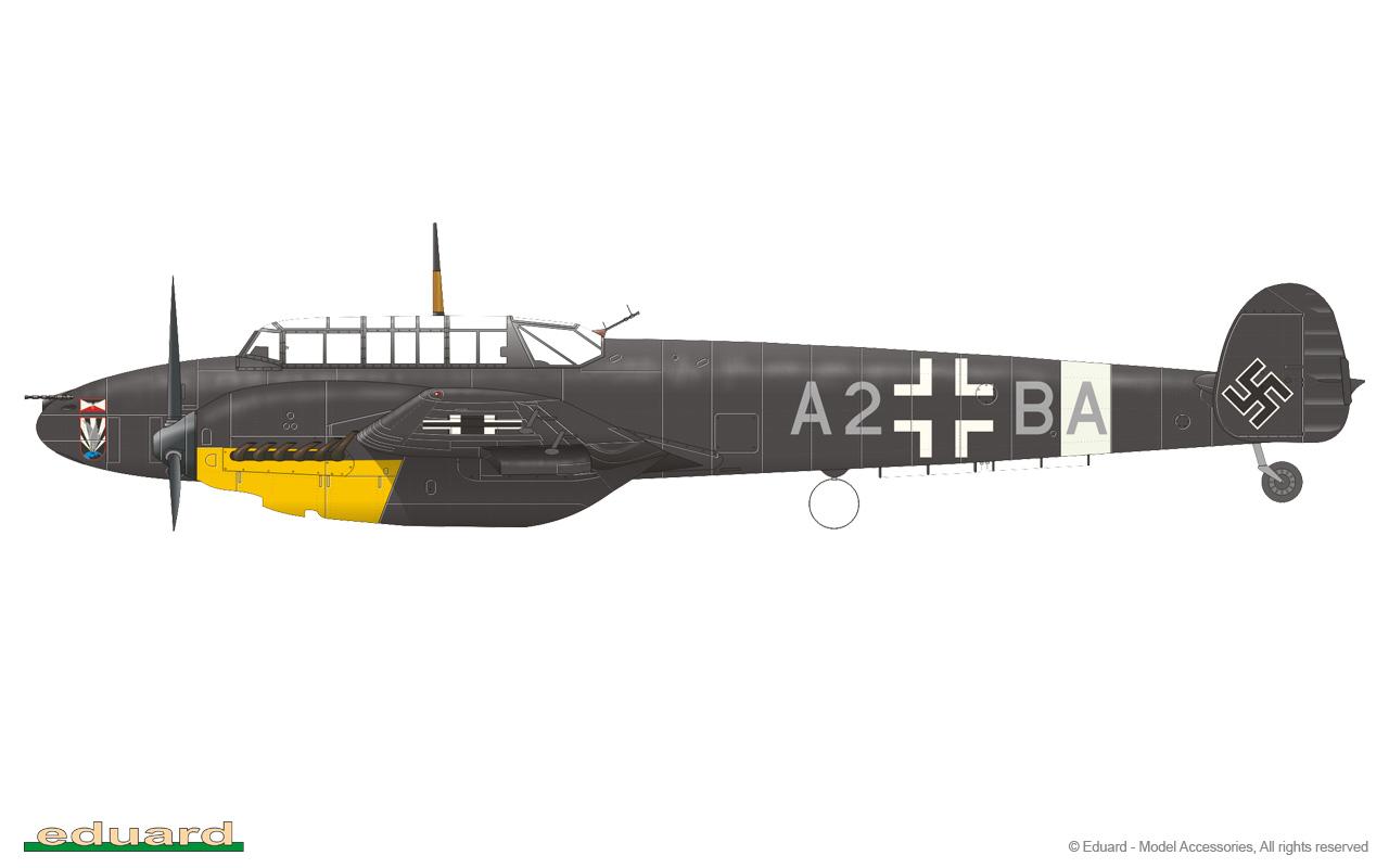 Eduard 1//48 Couleur FE1122 Acier Etch ceintures-Dragon Messerschmitt Bf110E