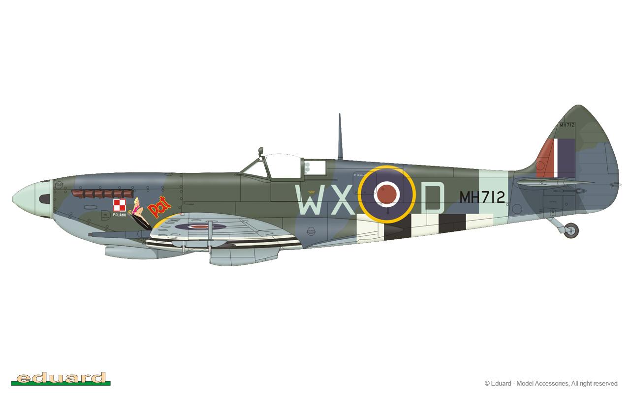 eduard 648305  1//48 Spitfire Mk IX Top Cowl Early for Eduard Resin