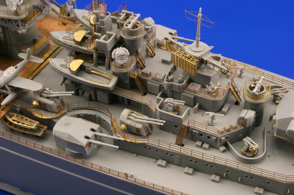 Eduard Accessories 53036 Bismarck railings and turrets für Revell Bausatz in 1