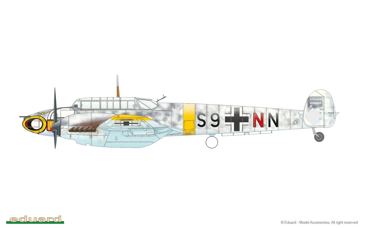 Neu Eduard Plastic Kits 8203-1:48 Bf-110E