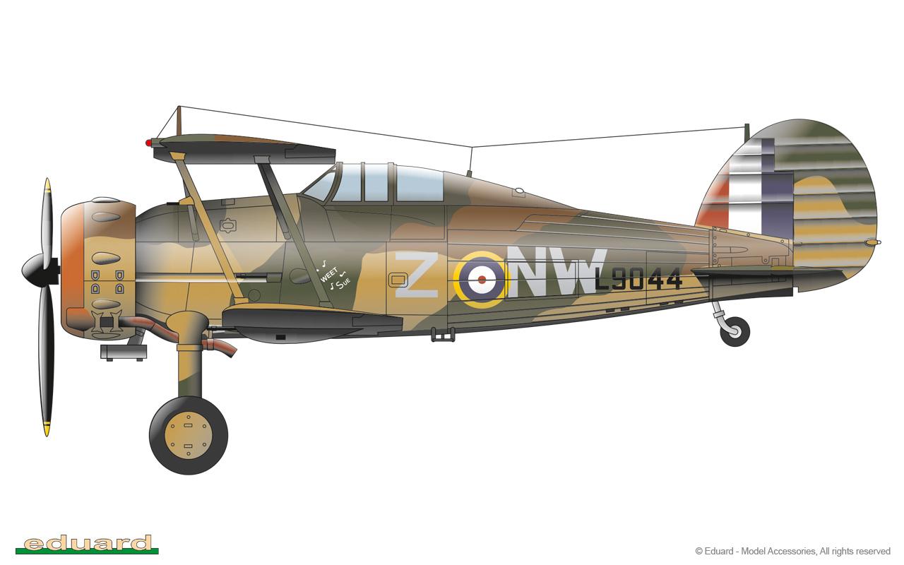 Gladiator 1/48 - Gladiator Mk.II, L9044, No. 3 Squadron RAAF, Maruba, Libya 1941