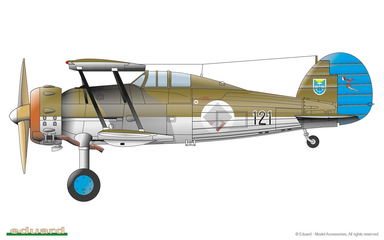 Gladiator 1/48 - Gladiator Mk.I, No. 123 Fighter Squadron, Spilve, Latvia 1938
