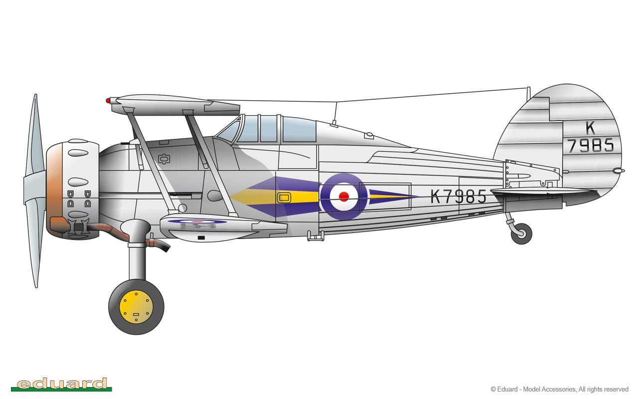 Gladiator 1/48 - Gladiator Mk. I K7985, No. 73 Squadron RAF, Church Fenton, England, September 1937