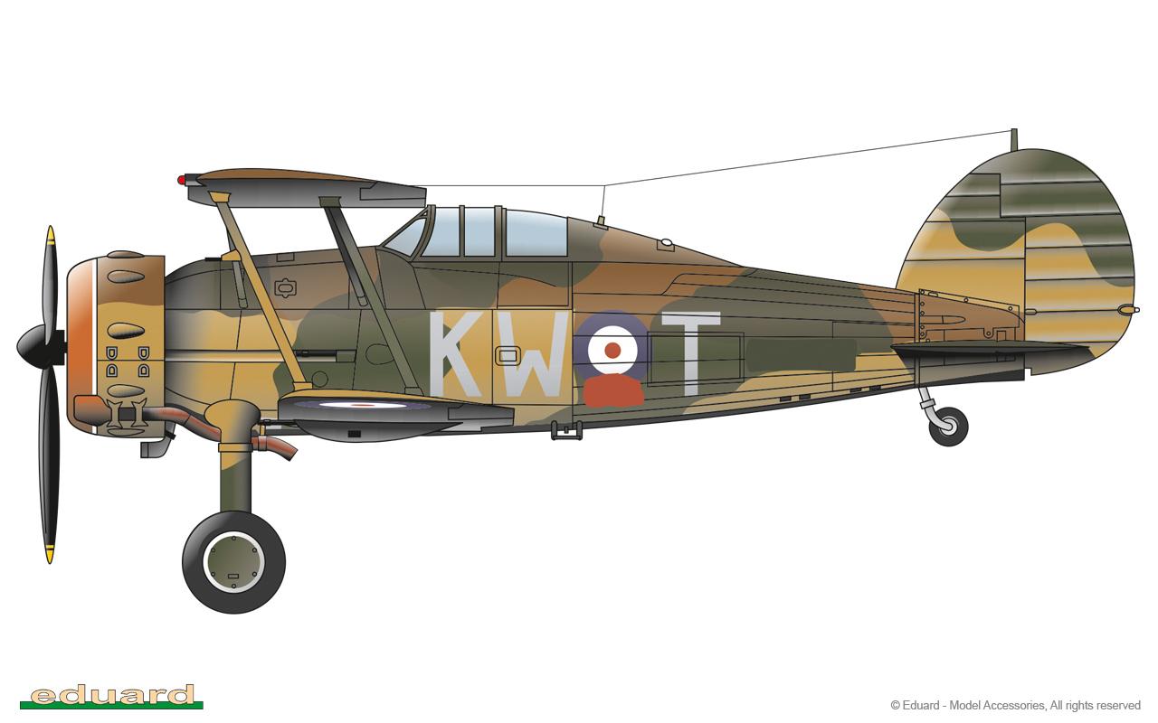 Gladiator 1/48 - Gladiator Mk.II, N2308, No. 615 Squadron RAF 'County of Surrey', Merville, France 1939