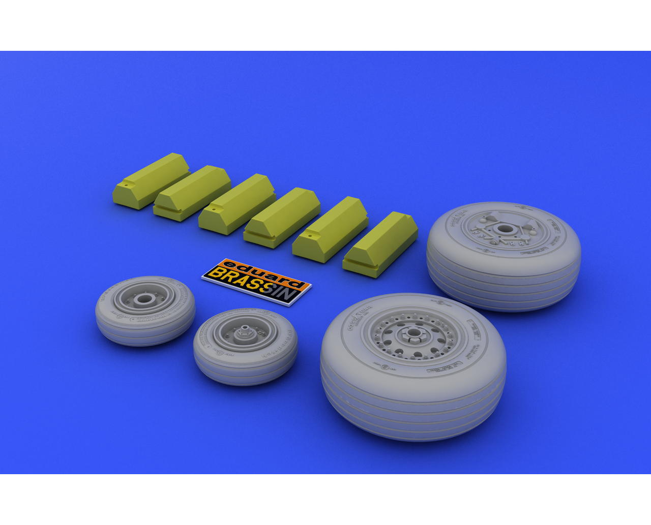 Resin Bausatz N Eduard Accessories 648313-1:48 F-4J Wheels For Zoukei Mura