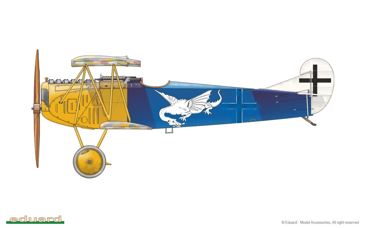 Fokker D. VII OAW - Eduard 1/48 (montage terminé) 84155-a
