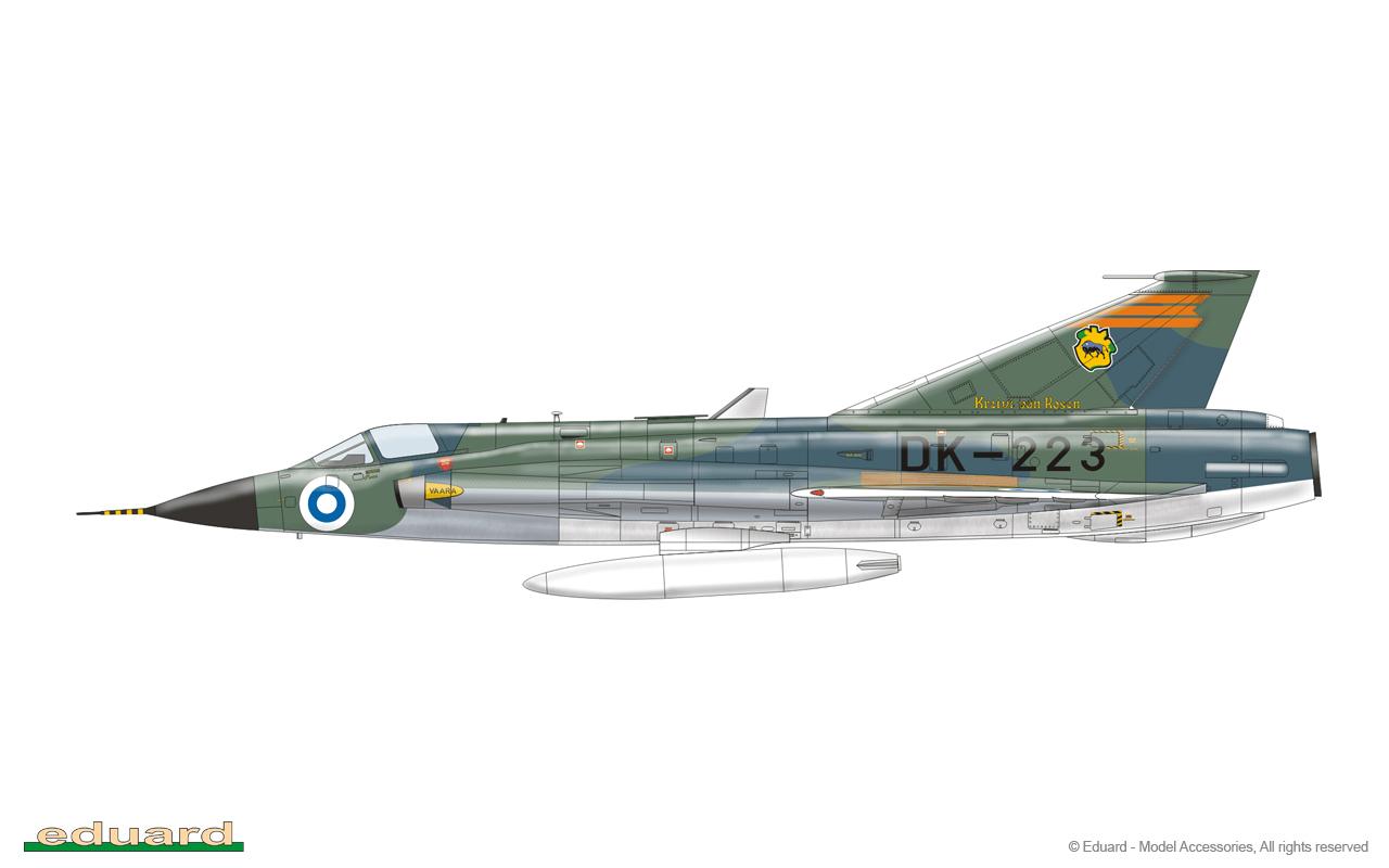 Draken - J 35FS, 351312, Hävittäjälentolaivue 11, 'Kreivi Von Rosen', Rovaniemi, Finland, 1985
