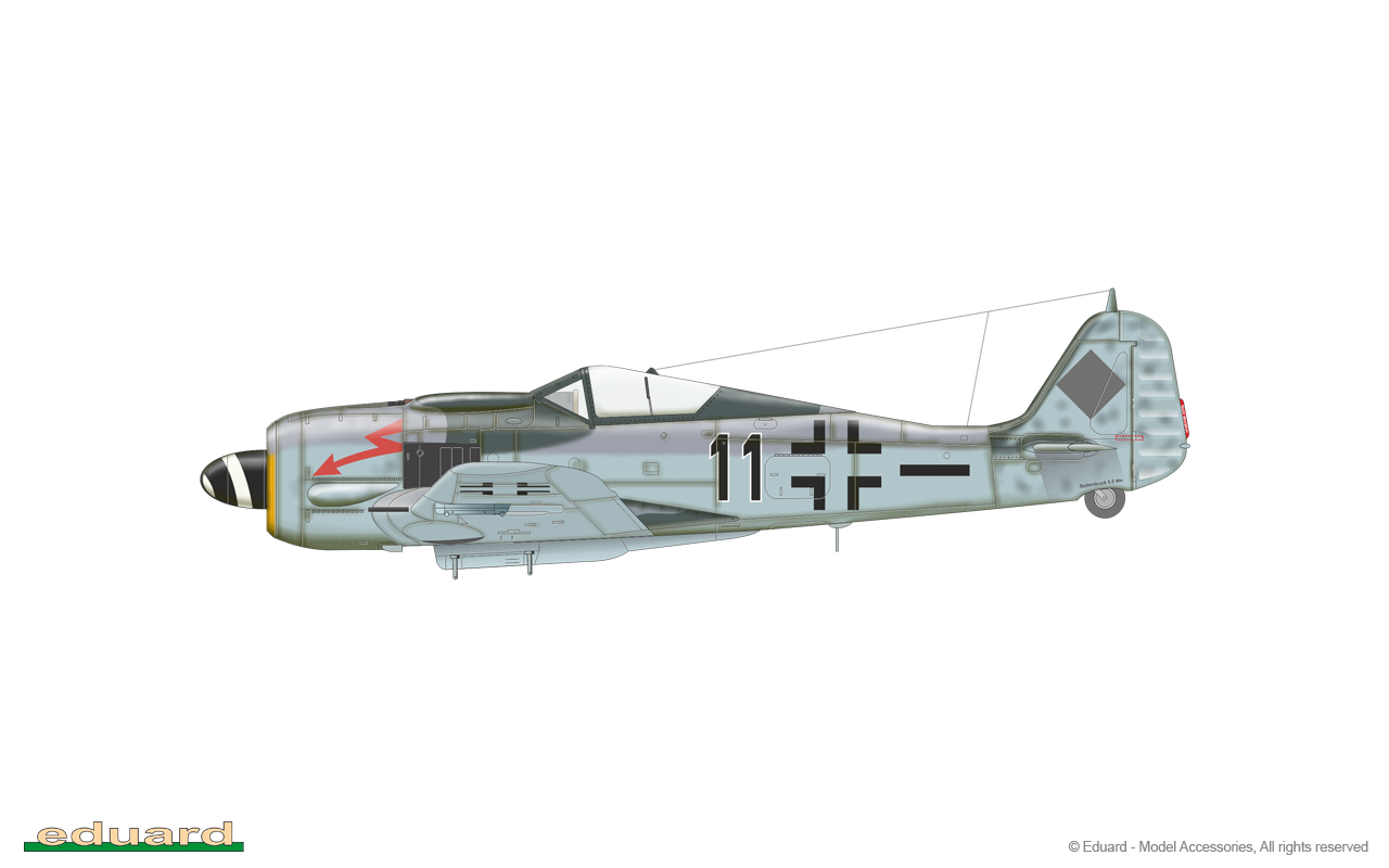 Fw 190F-8 1/72 - 5./SG 77, Cottbus, Germany, early 1945