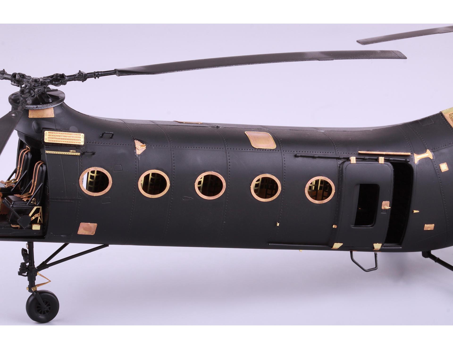 """listo modelo 1:72 atlas Piasecki h-21 /""""Flying banana/"""" francia metal,"""