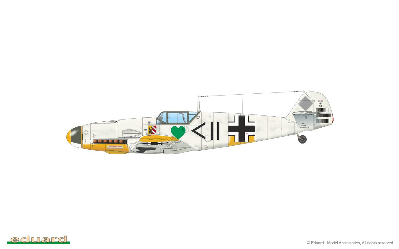 Bf 109F-2 1/48 - Bf 109F-2, flown by Hptm. Hans Philipp, CO of I./ JG 54, Krasnogvardeysk, Soviet Union, March 1942