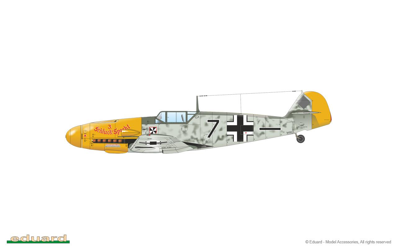 Bf 109F-2 1/48 - Bf 109F-2, flown by Lt. Horst Buddenhagen, 5./ JG 3, Darmstadt – Griesheim, Germany, April 1941