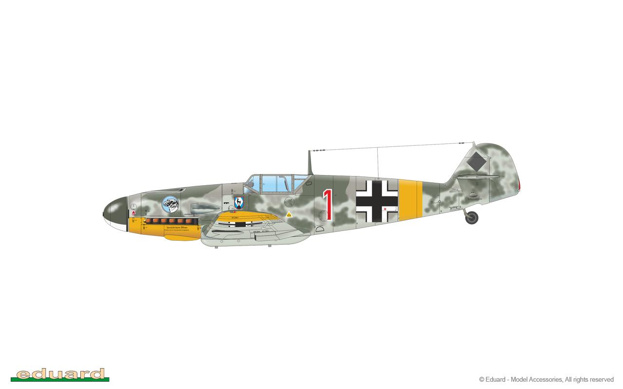Bf 109F-2 1/48 - Bf 109F-2/b, flown by Oblt. Wilhelm Hachfeld, 2./ JG 51, Kiev, Soviet Union, Summer 1941