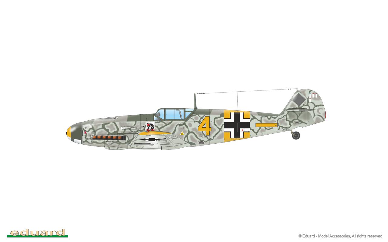 Bf 109F-2 1/48 - Bf 109F-2, W. Nr. 9538, flown by Lt. Hans Beißwenger, 6./ JG 54, Ostrow, Soviet Union, July 1941