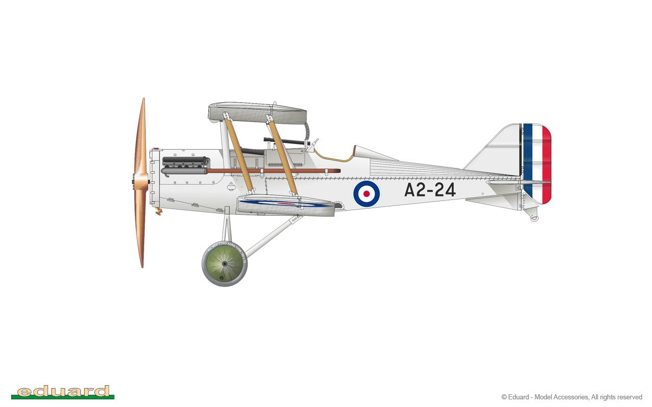 Eduard BIGSIN 64834 1//48 S.E.5a Hispano Suiza w// 4blade propeller