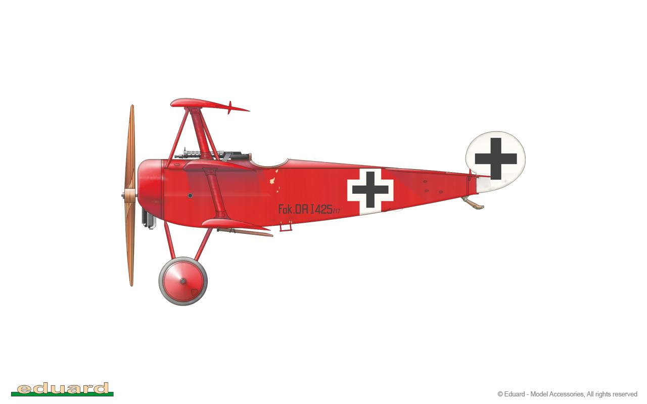 Fokker Dr. I 1/48 - 425/17 flown by Rittmeister M. Freiherr von Richthofen, CO of JG 1, Cappy, France, April 1918