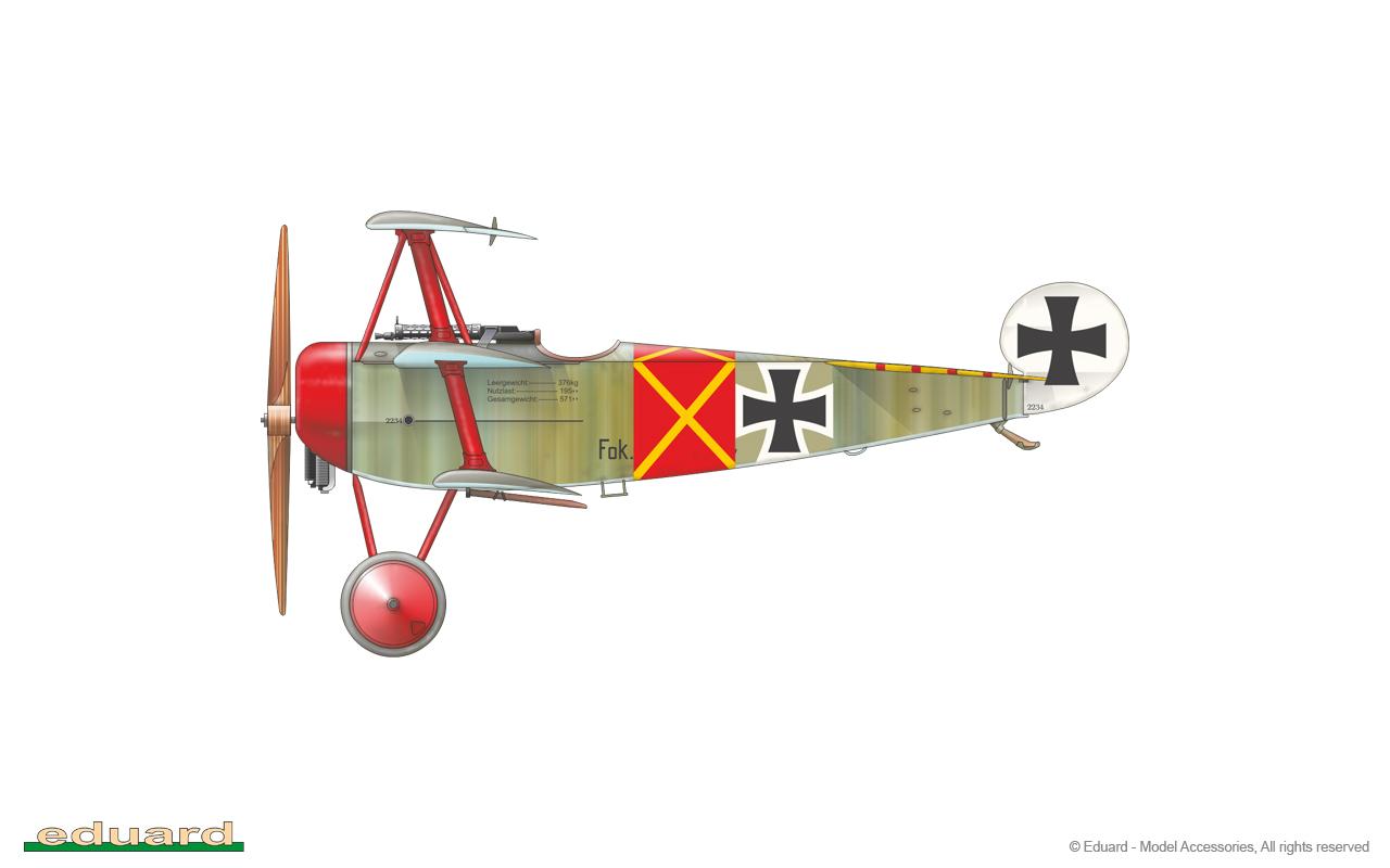 Fokker Dr. I 1/48 - flown by Lt. W. Steinhäuser, Jasta 11, Avesnes-le-Sec, France, February 1918