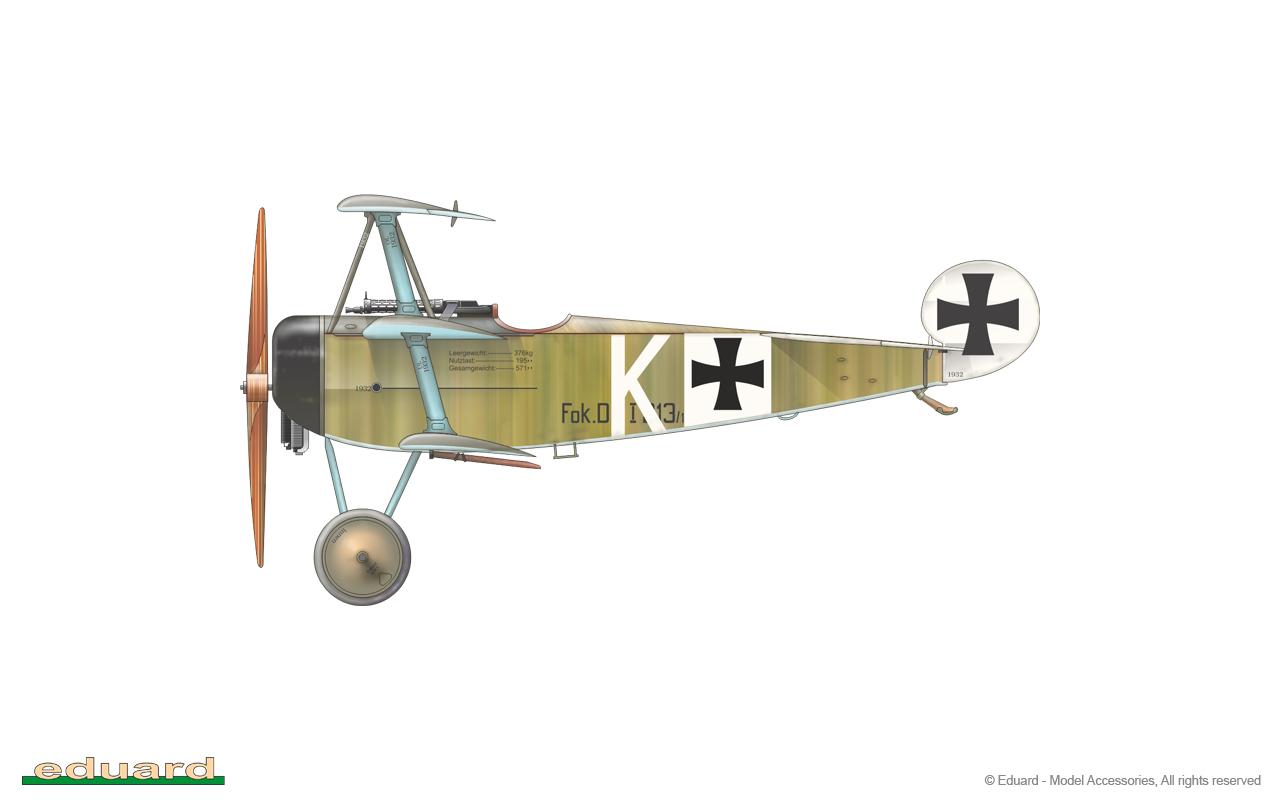 Fokker Dr. I 1/48 - 213/17 flown by Lt. Friedrich Kempf, Jasta 2, 1917
