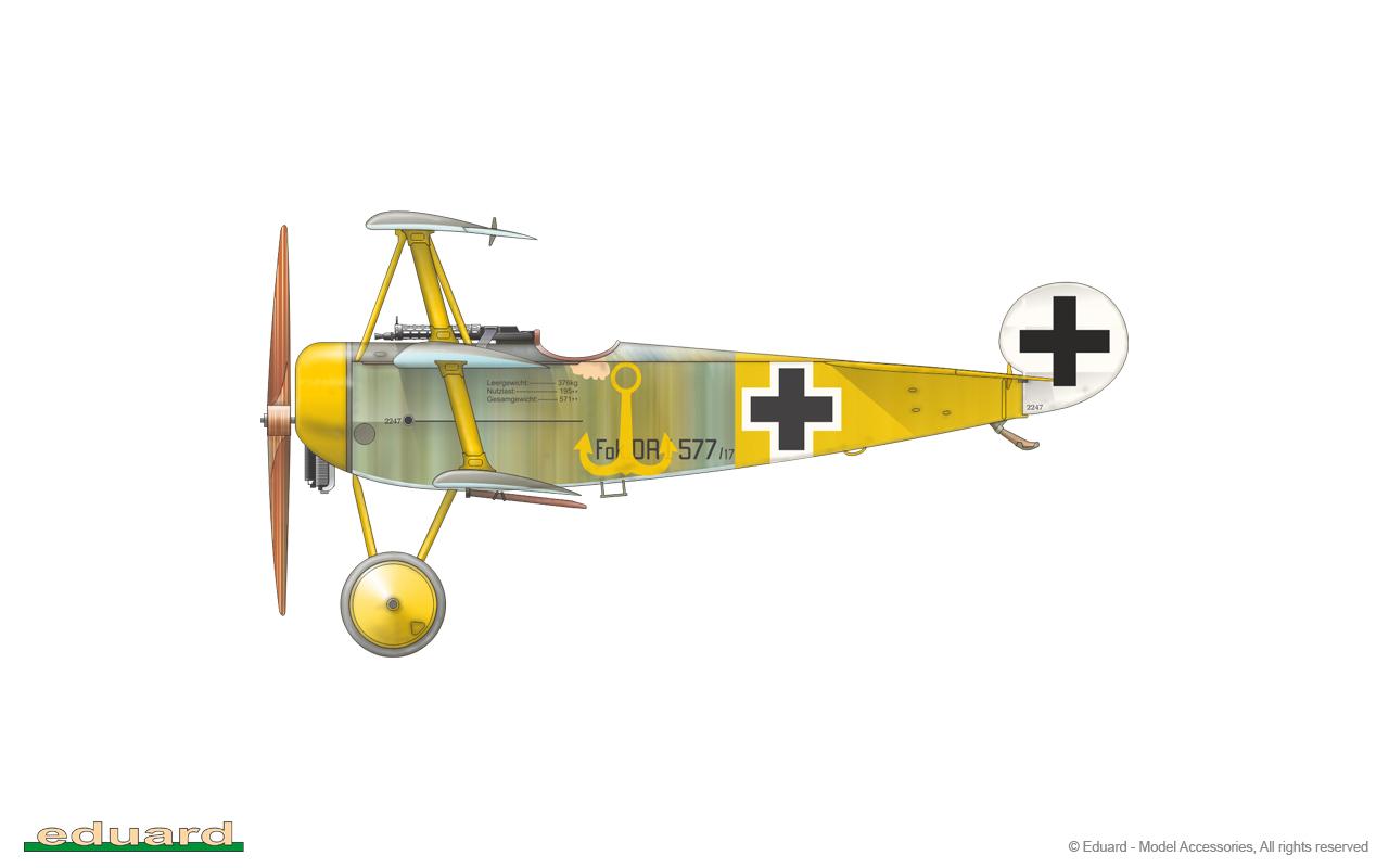 Fokker Dr. I 1/48 - 577/17 flown by Lt. R. Klimke, Jasta 27, Halluin – Ost, France, May 1918
