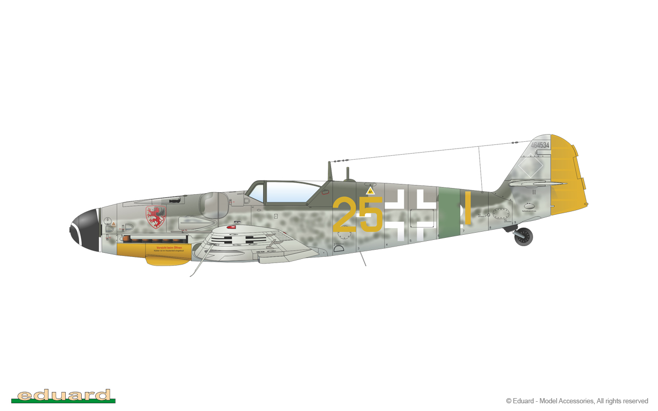 Bf 109G-14 1/48 - Bf 109G-14, W. Nr. 464534, EJG 2, Pilsen, Czechoslovakia, May 1945