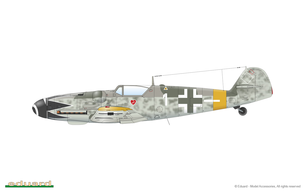 Bf 109G-14 1/48 - Bf 109G-14/U4, flown by Hptm. E. Hartmann, 4./ JG 52, Csór, Hungary, October 1944