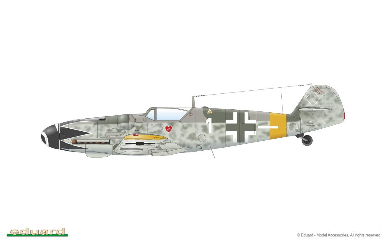 Bf 109G-14 1/48 - Bf 109G-14/U4, flown by Hptm. E. Hartmann, 4./ JG 52, Csór, Hungary, October 1944