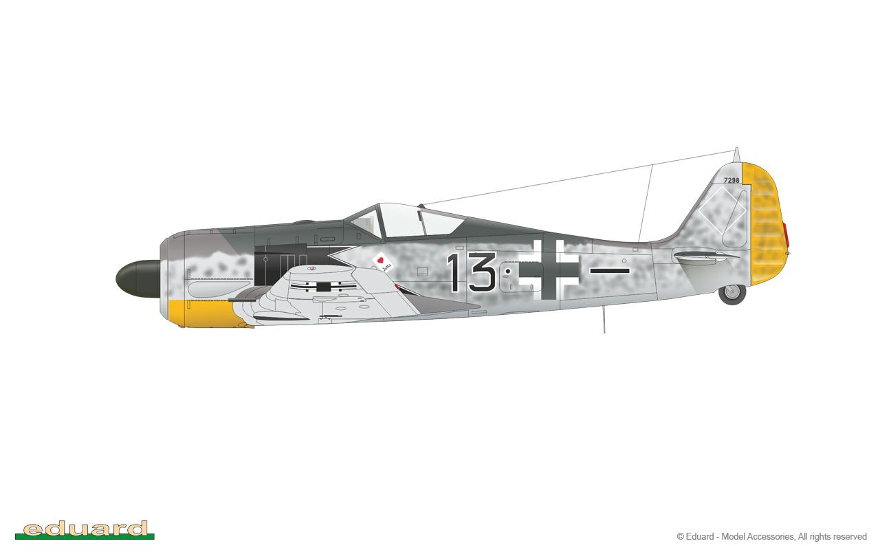 Eduard Mask 1//48 Fw 190A-5// A-8 Mask for Hasegawa  EUEX 231