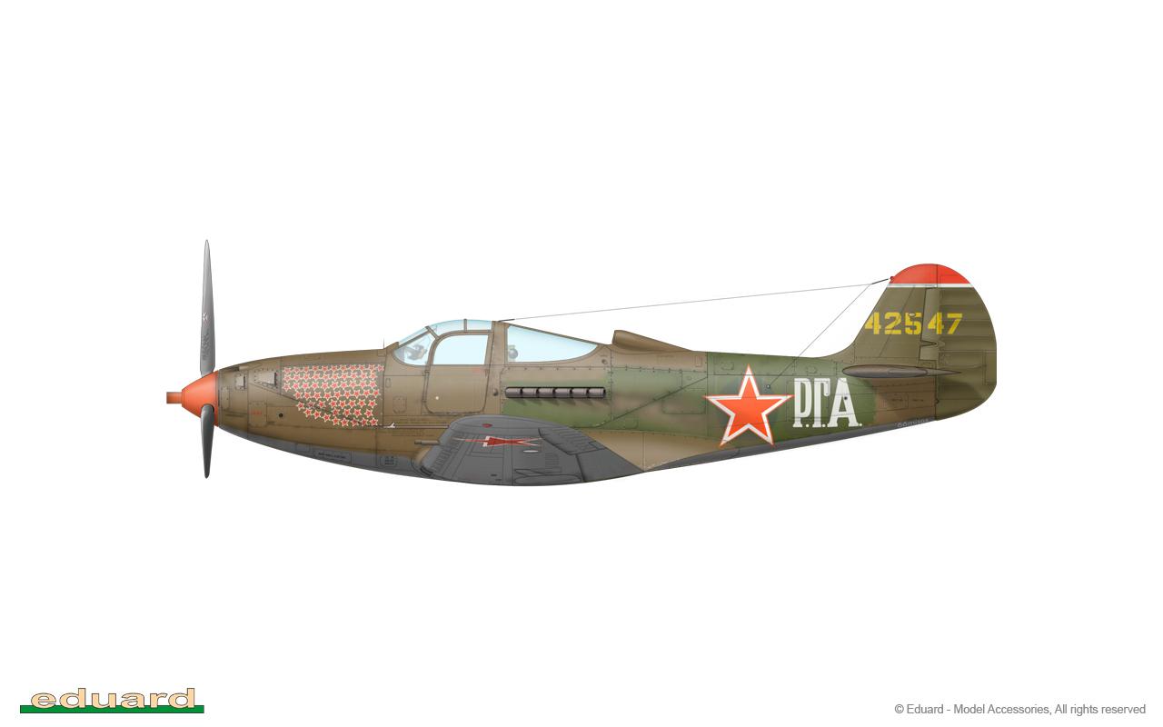 Bella 1/48 - P-39N-0, s/n 42-8747, flown by Guard Captain Grigoriy Andreevich Rechkalov, 16. GIAP, Germany, Spring 1945