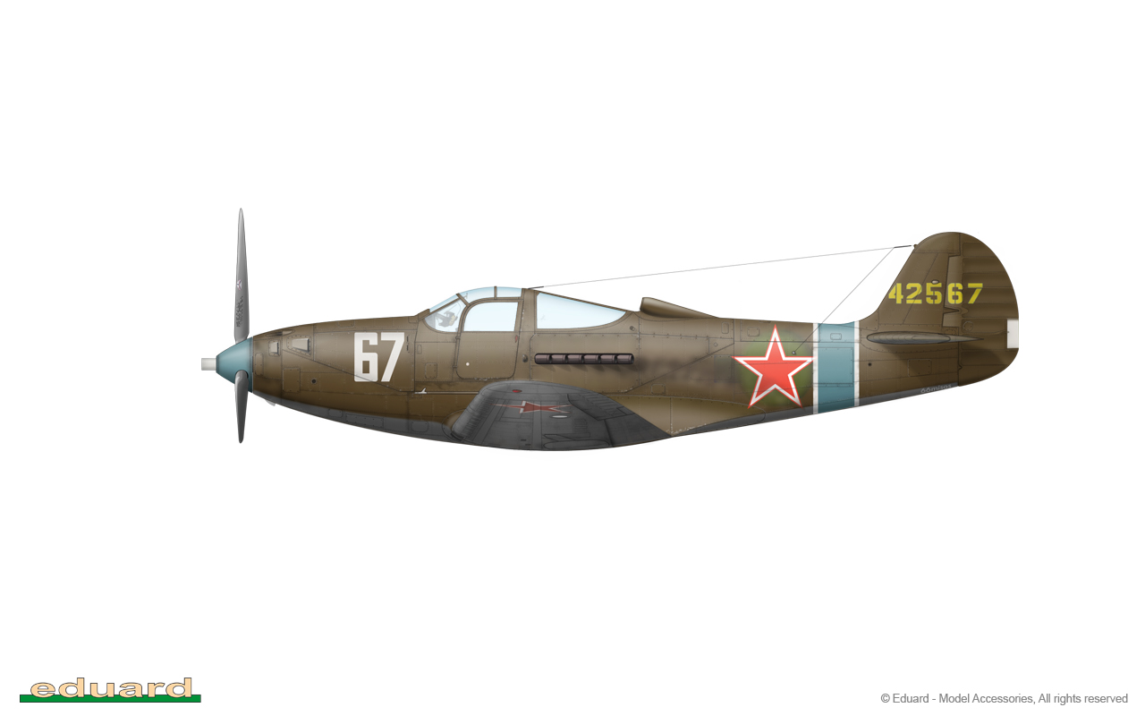 Bella 1/48 - P-39Q-15, s/n 44-2567, 68. GIAP, 5. GIAD, 1. Baltic Front, winter 1944 – 1945