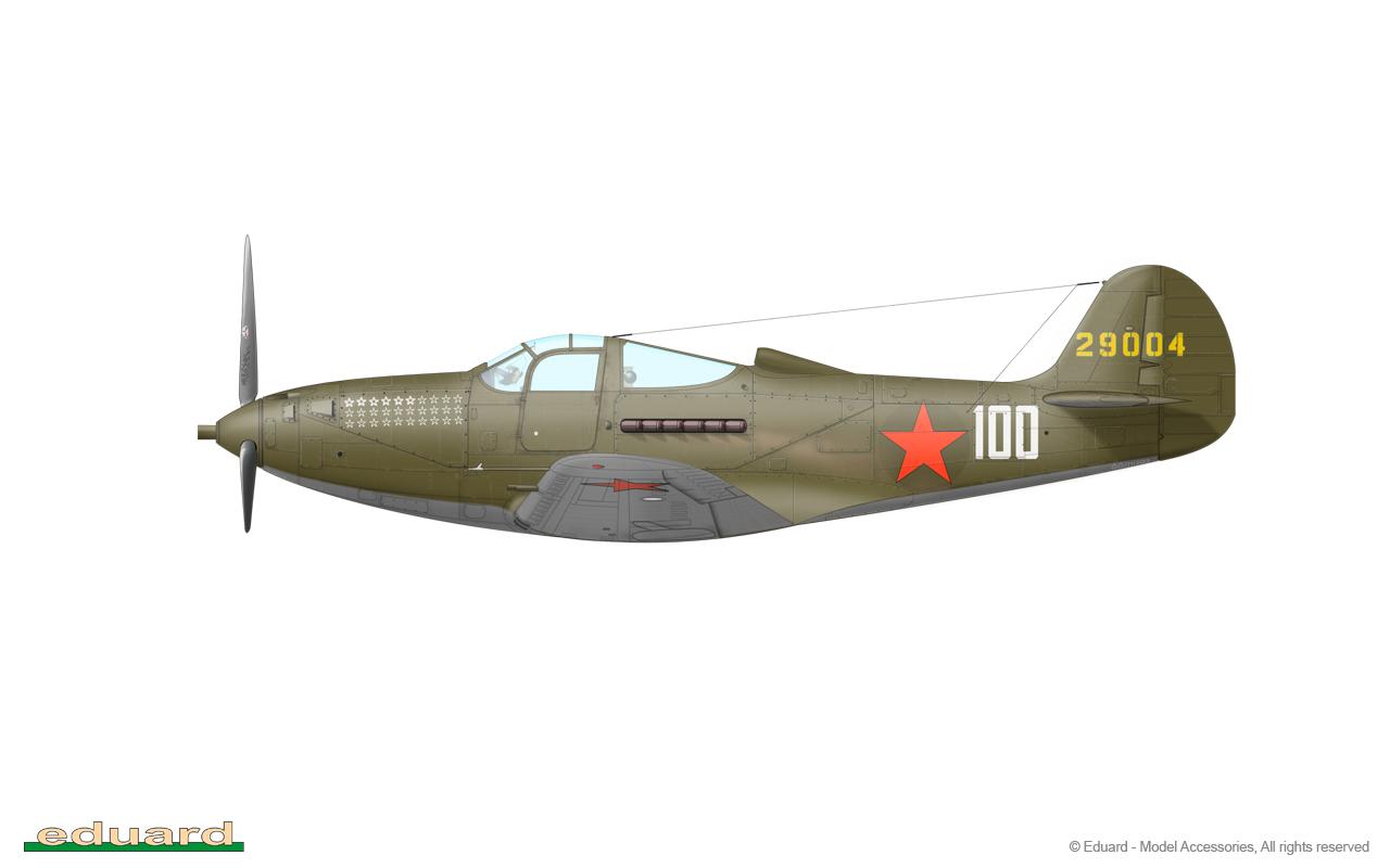 Bella 1/48 - P-39N-0, s/n 42-9004, flown by Guard Captain Alexandr Ivanovich Pokryshkin, 16. GIAP, Kuban, Soviet Union, May 1943