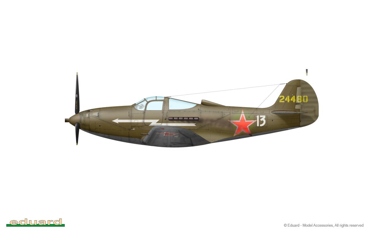 Bella 1/48 - P-39K-1, s/n 42-4480, 494. IAP, 303. IAD, Smolensk area, Autumn 1943