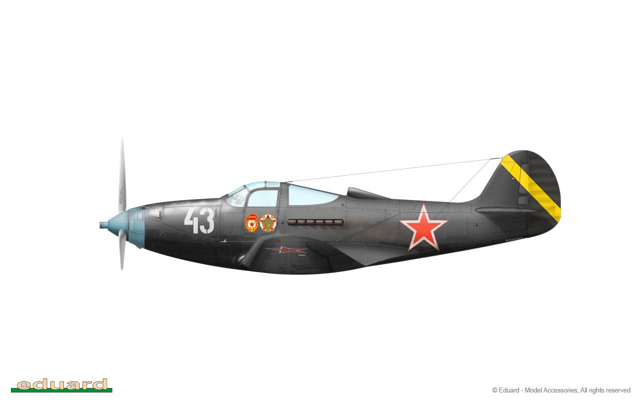 Bella 1/48 - P-39Q, flown by Guard Major Anatoliy Leonidovich Kozhevnikov, 212. GIAP, 22. GIAD, Dabern, Germany, May/ June 1945