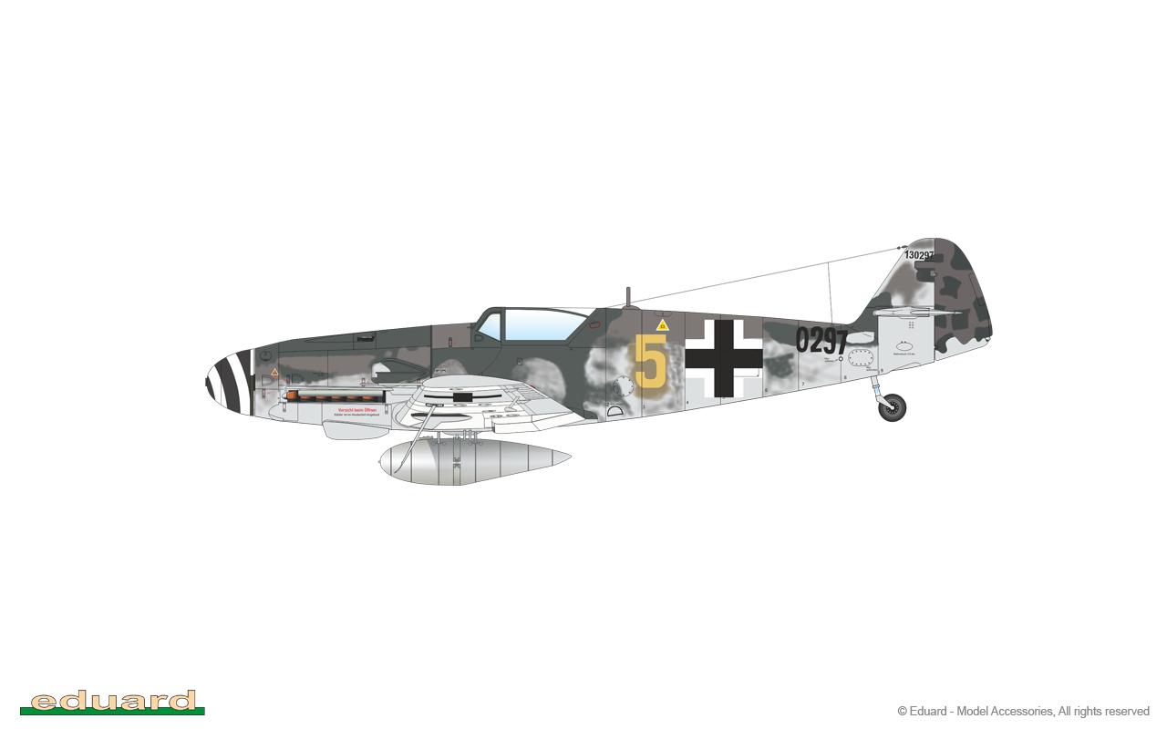 Bf 109G-10 Mtt Regensburg 1/48 - W. Nr. 130297, flown by Fw. Horst Petzschler, 10./ JG 51, Bulltofta, Sweden, May 1945