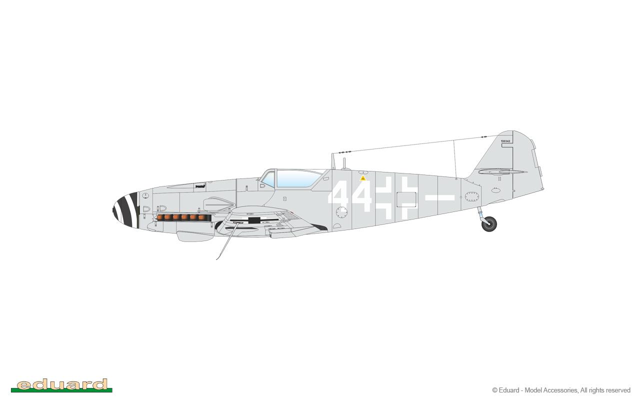 Bf 109G-10 Mtt Regensburg 1/48 - W. Nr. 130342, 5./ NJG 11, Fassberg, Germany 1945