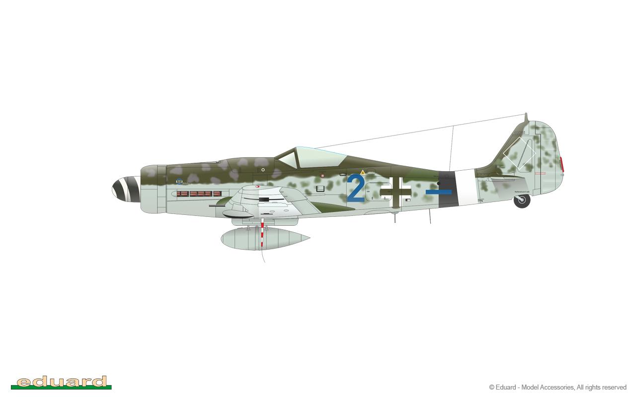 Bodenplatte 1/48 - Fw 190D-9, W. Nr. 600161, flown by Gefr. Hans-Karl Götz, 7./JG 26, Plantlünne, Germany, January 1st, 1945