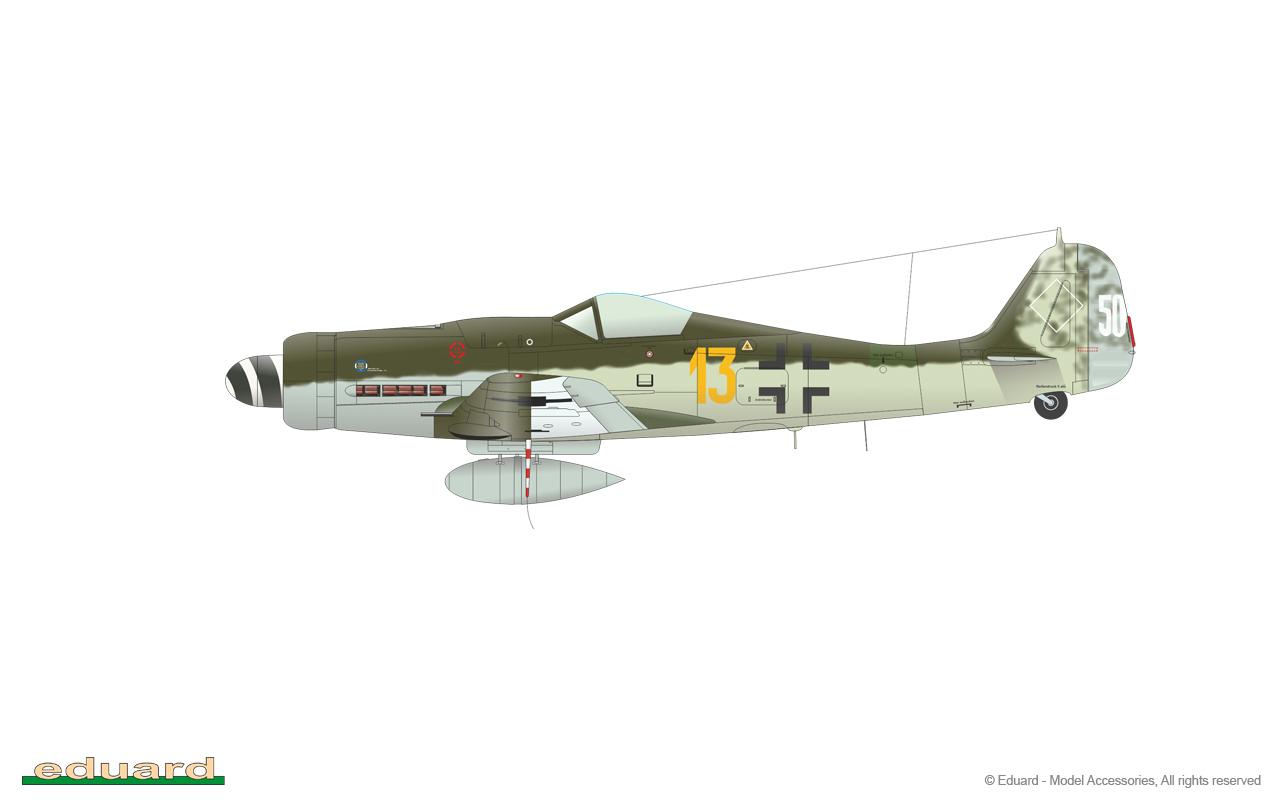 Bodenplatte 1/48 - Fw 190D-9, W. Nr. 500093, flown by Ogefr. Dieter Kragelöh, 3./JG 26, Fürstenau, Germany, January 1st, 1945
