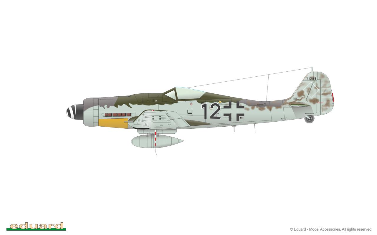 Bodenplatte 1/48 - Fw 190D-9, W. Nr. 210079, flown by Lt. Theo Nibel, 10./JG 54, Varrelbusch, Germany, January 1st, 1945