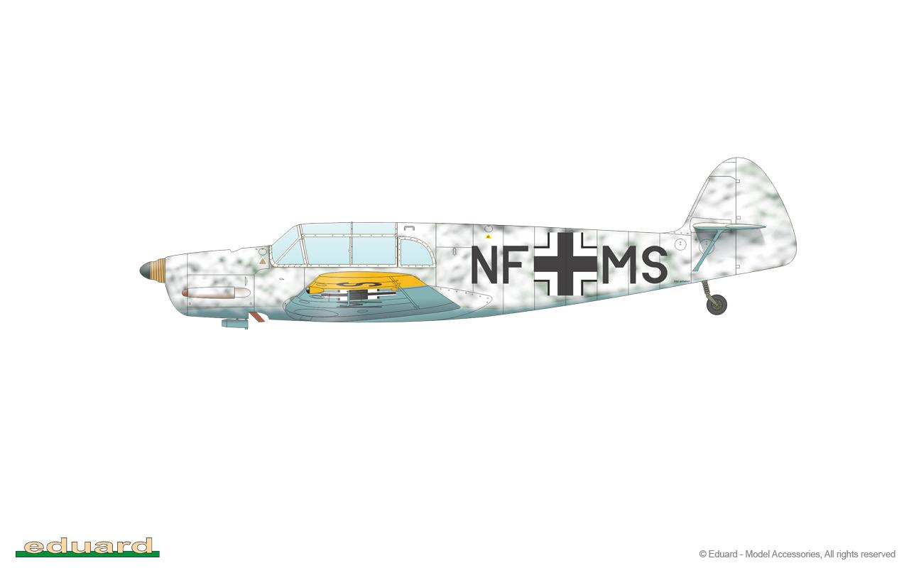 EDUARD JX258 Masking Sheet for Eduard Kit Bf108 in 1:32