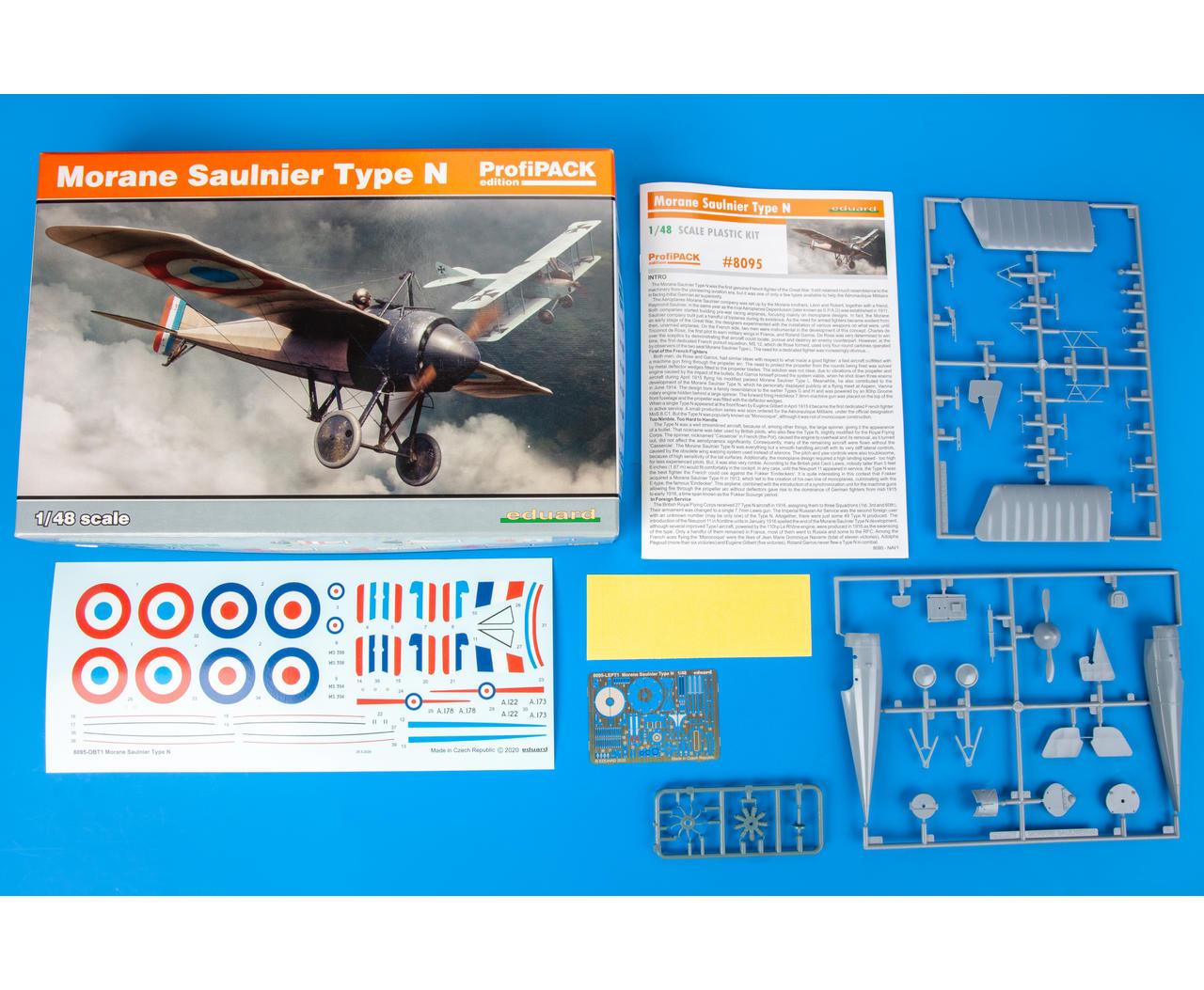 Profipack Eduard Plastic Kits 8095-1:48 Morane Saulnier Type N Neu
