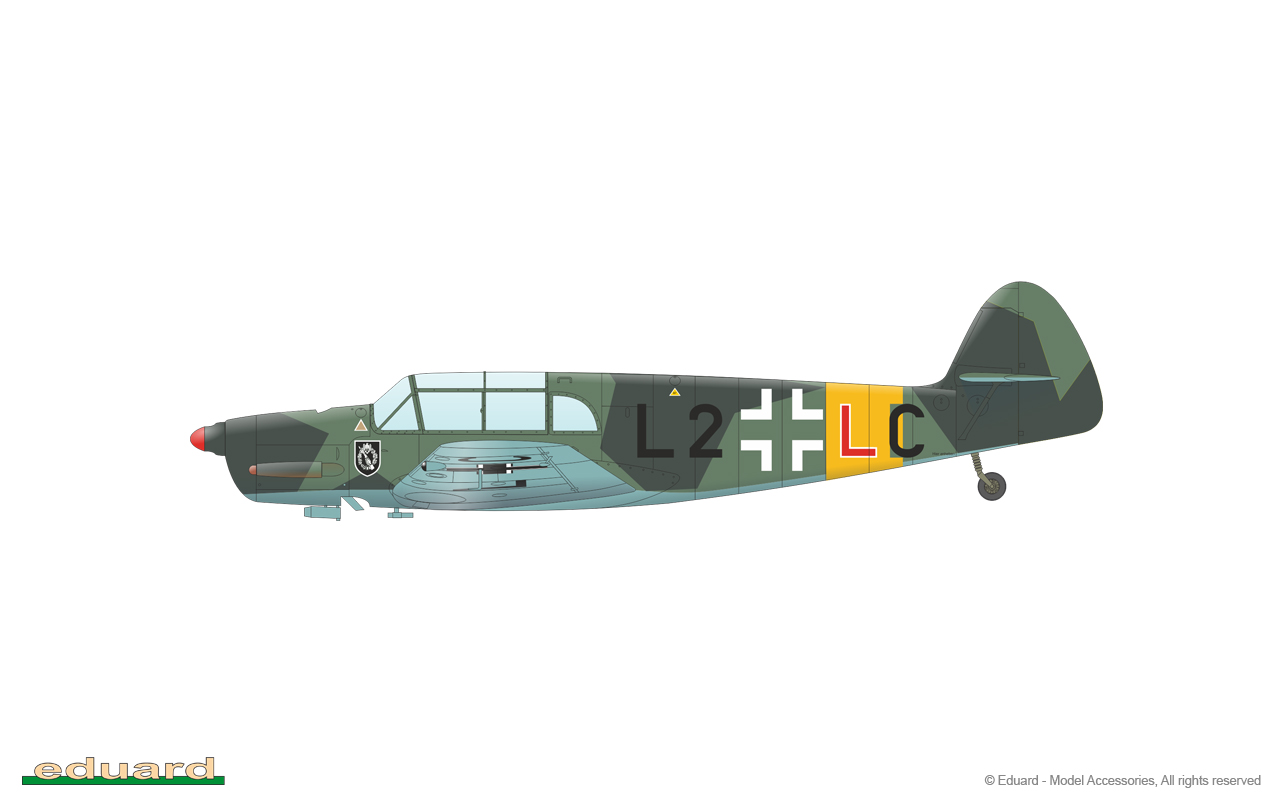 EDUARD JX253 Masking Sheet for Eduard Kit Bf108 in 1:32