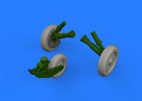 F-8 Crusader wheels 1/48
