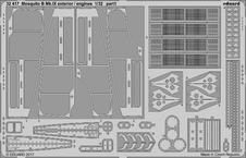 Mosquito B Mk.IX exteriér / motory 1/32