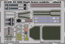EF-2000 Typhoon Single Seater seatbelts 1/32