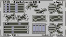 F-4 seatbelts green STEEL 1/32