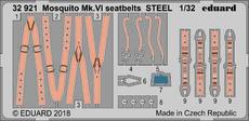 Mosquito Mk.VI seatbelts STEEL 1/32