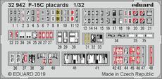 F-15C výrobní štítky, popisky 1/32