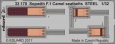 Sopwith F.1 Camel seatbelts STEEL 1/32