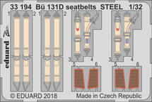 Bü 131D seatbelts STEEL 1/32