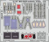 MiG-29UB upínací pásy OCEL 1/32