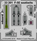 F-5E seatbelts STEEL 1/32