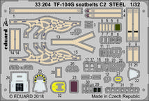TF-104G seatbelts C2 STEEL 1/32